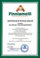 Certificate of official dealer